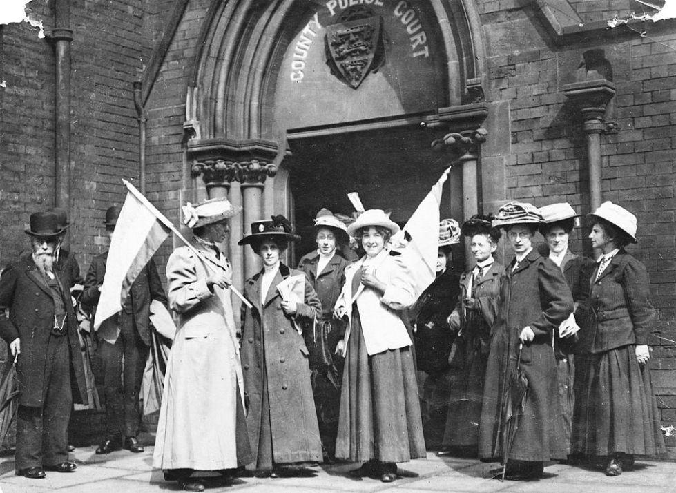 British suffragettes demonstration GB UK voting rights for women