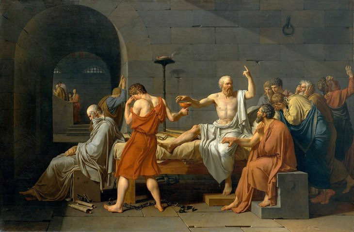 Death of Socrates poison Ancient Greece