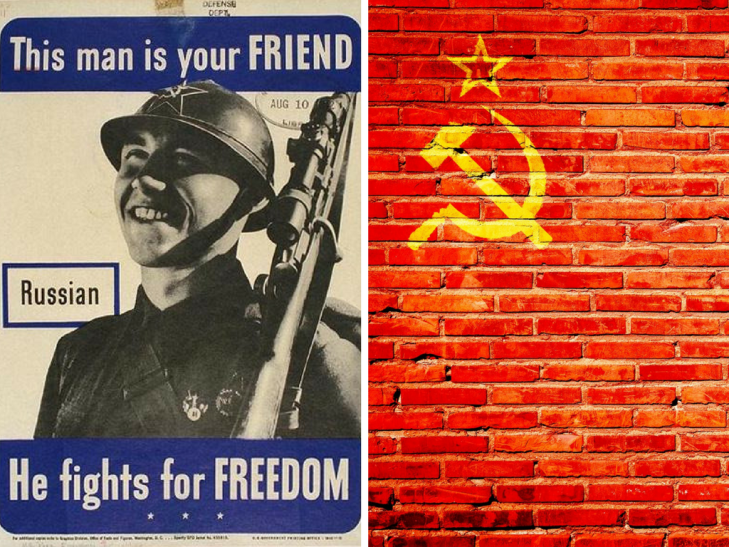 Soviet soldier He fights for freedom poster War crimes