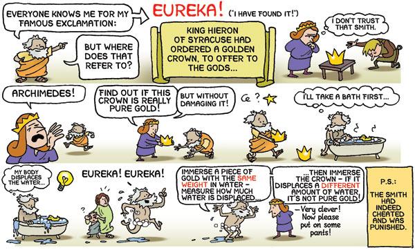 archimedes and eureka story cartoon