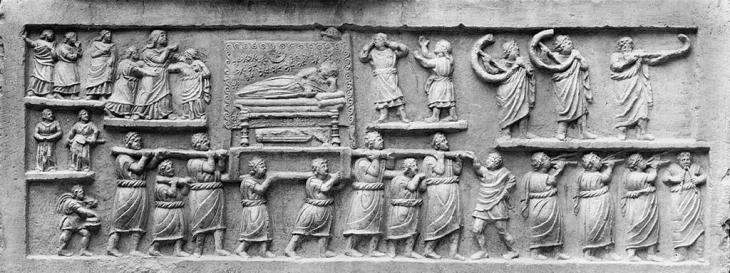 funeral ancient rome mourners