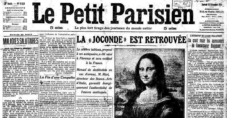 Mona_Lisa_Found,_La_Joconde_est_Retrouvée,_Le_Petit_Parisien,_Numéro_13559,_13_December_1913