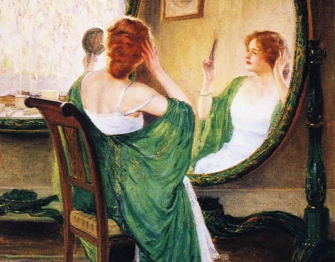 486px-Guy_Rose_-_The_Green_Mirror