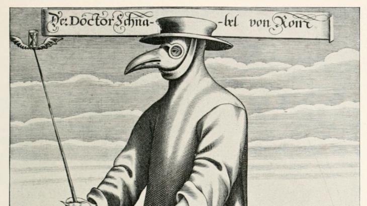 plague doctor beaked costume great plague black death
