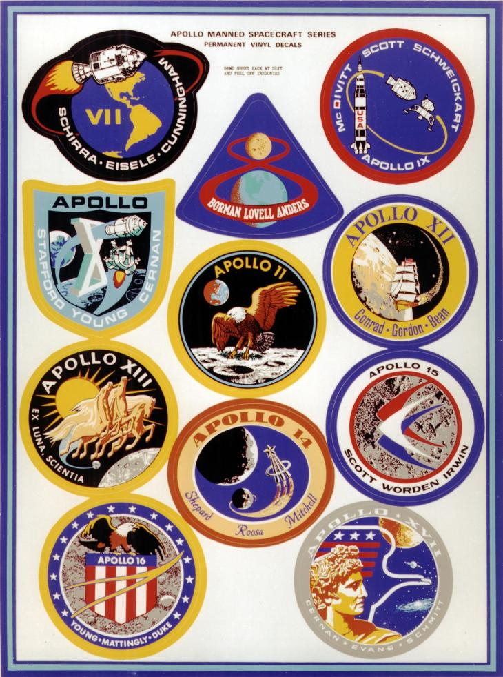 Nasa Apollo missions patches