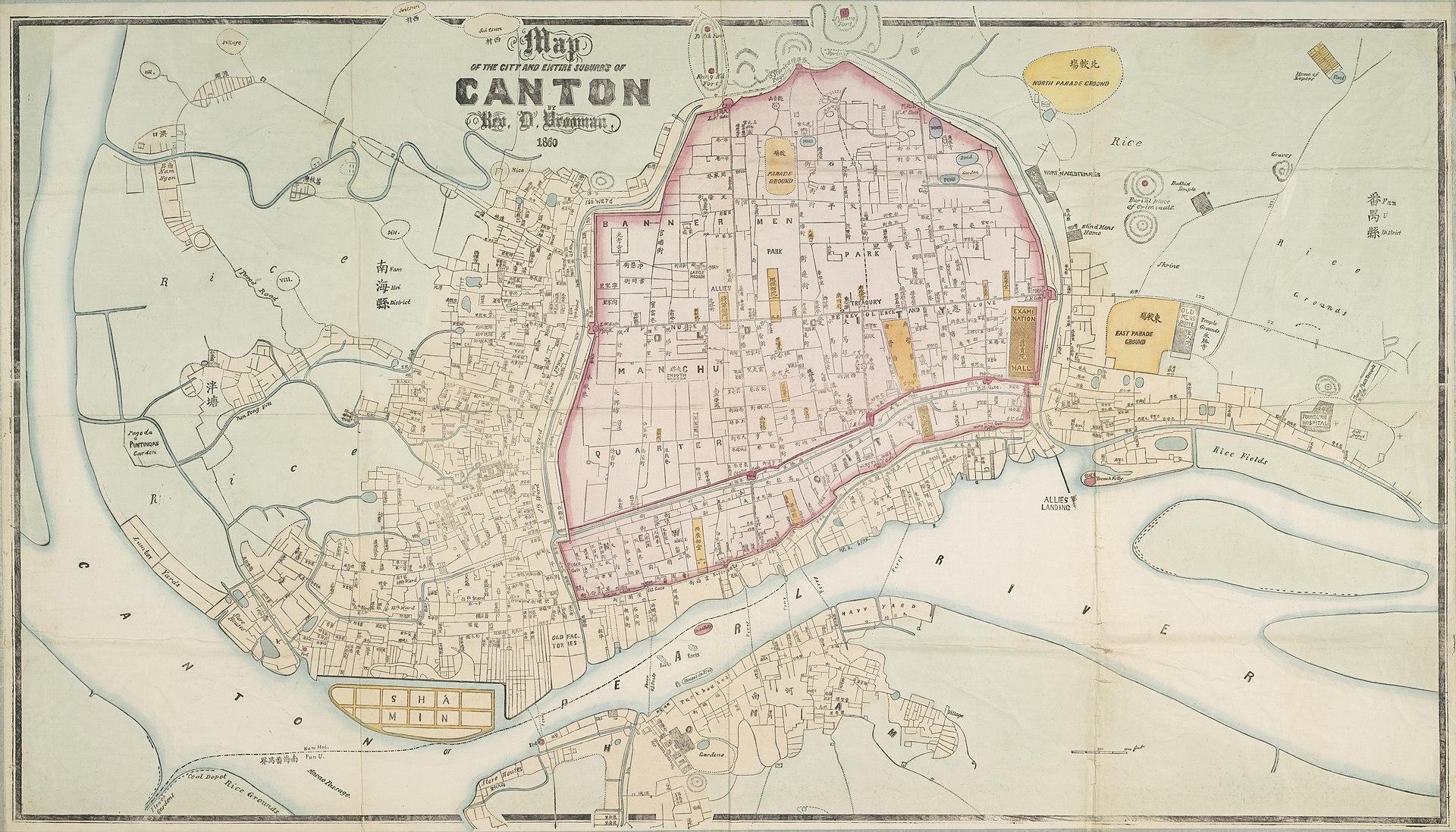 Canton map 1860