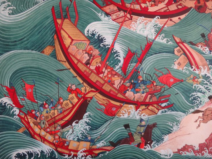 mongol ships destroyed by storms kamikaze divine wind