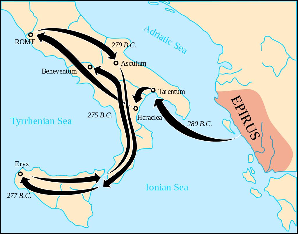 Pyrrhic wars map