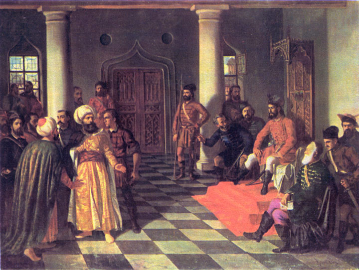 Theodor_Aman_-_Vlad_the_Impaler_and_the_Turkish_Envoys