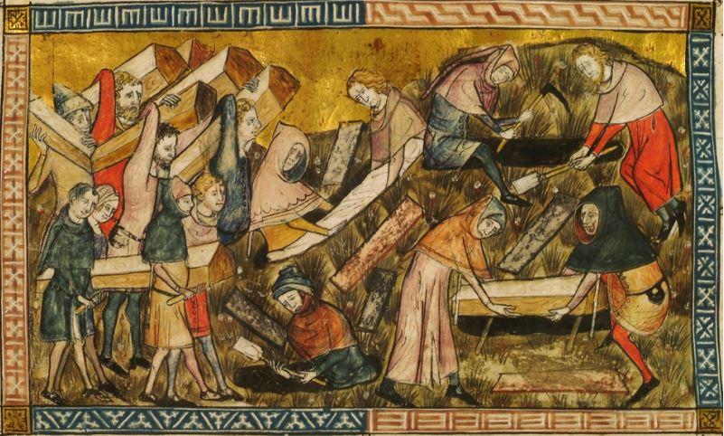 Citizens of Tournai plague épidémie de peste
