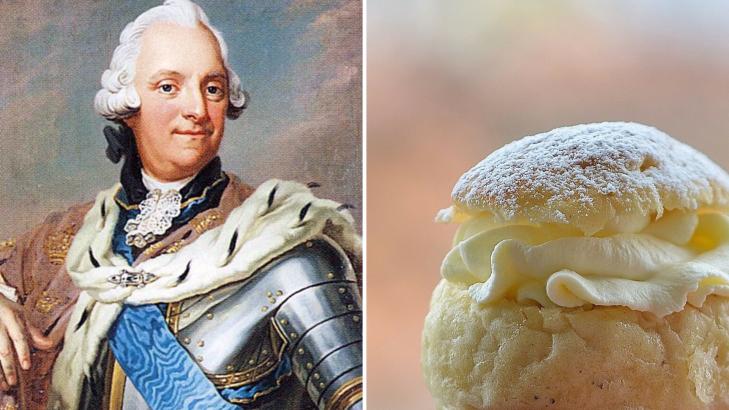 Adolphe Frédéric roi de Suède mort idiote semla