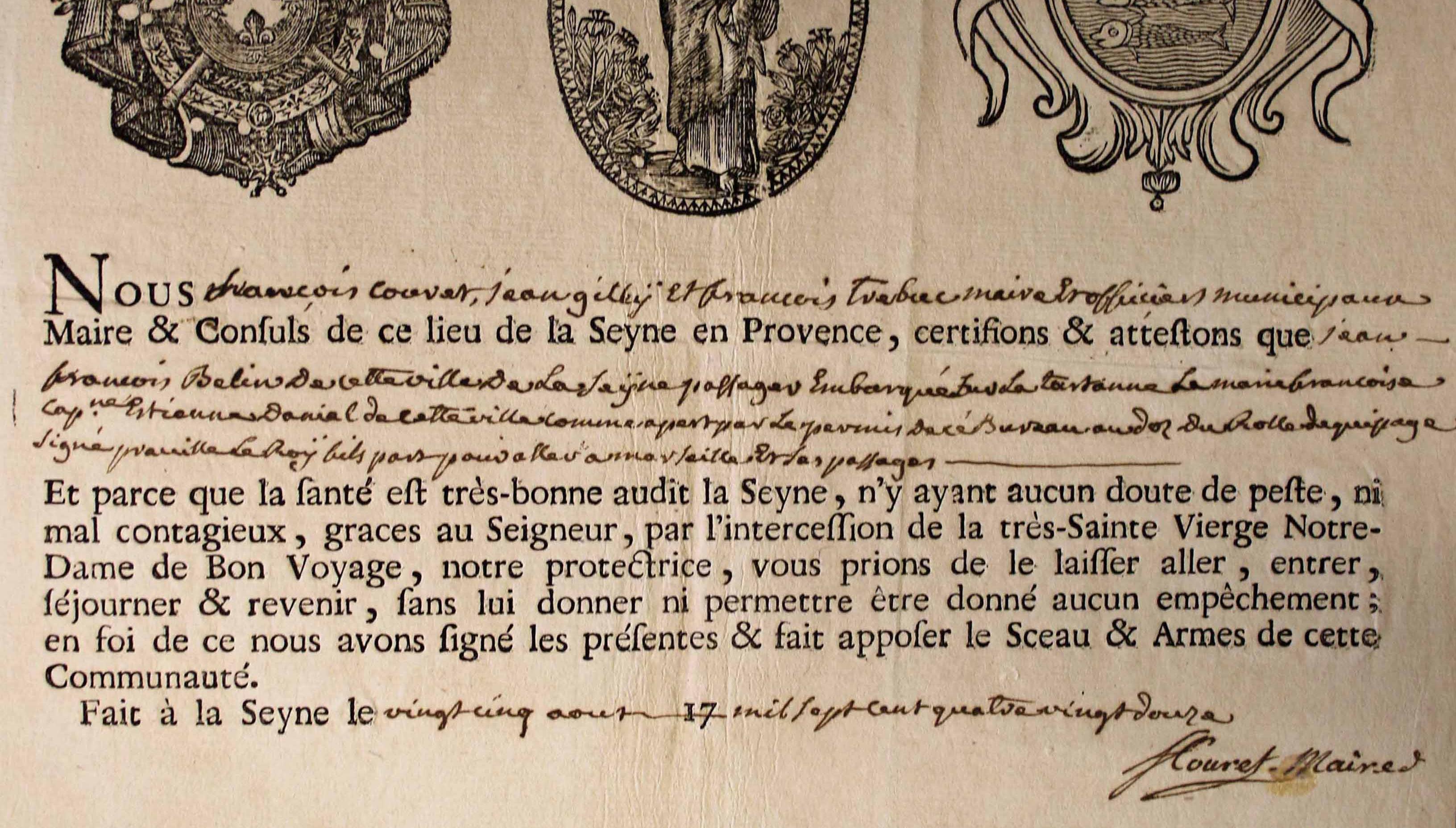 patente santé 1792