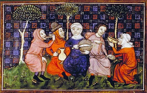 Paysans pain et vin cuisine médiévale
